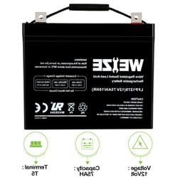 Weize 12V 75AH Sealed AGM Battery For Mobility Scooter Permo