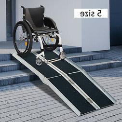 2/4/6/8/10ft Folding Aluminum Wheelchair Ramp  Portable Mobi
