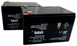 Casil 2 Pack - 12V 12AH Replacement Battery for Pride Mobili