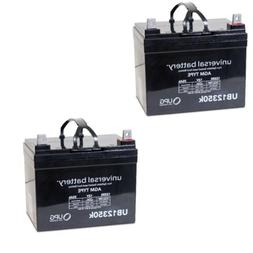 2 PACK UPG UB12350 12V 35AH  SLA Battery Replaces Pride Mobi