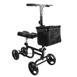 NEW Black Foldable Steerable Knee Walker Scooter Turning Bra