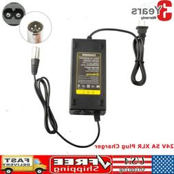 24V 5A Battery Charger XLR for Wheelchairs,Pride Mobility,Ja