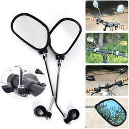 2Pcs Bicycle Bike Mobility Scooter 360° Handlebar Mirrors W