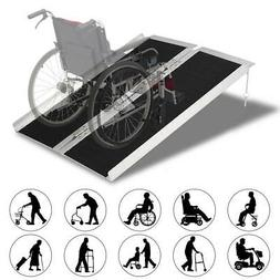 3'-8' Aluminum Wheelchair Ramp Loading Scooter Mobility Hand
