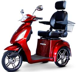 EWheels 3-Wheel Electric Mobility Scooters - Red 15 MPH  EW-