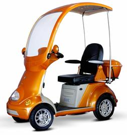 Mobility Scooter with Canopy Color: Orange