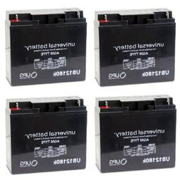 4 PACK UPG UB12180 12V 18AH Replacement Battery EW72 Mobilit