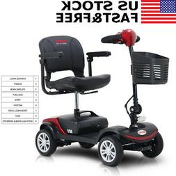 4 Wheel Electric Mobility Scooter Travel Transportable Folda