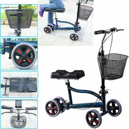 4-Wheel Mobility Knee Walker Scooter Steerable Foldable Medi