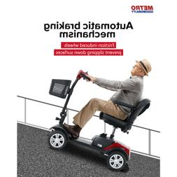 4 Wheel Mobility Scooter Electric Powered Wheelchair Foldabl