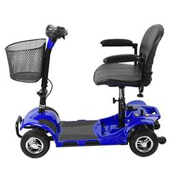 Simoner 4 Wheels Travel Power Scooter, Folding Transportable