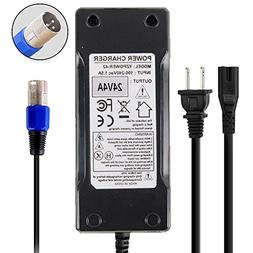 Abakoo New 24 Volt 4A 96W XLR Mobility Battery Charger for J