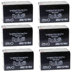 6 PACK UB12120 12V 12AH F2 Replacement Battery for Pride Mob