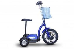 E-Wheels, EW-18 Stand n Ride Scooter 3-Wheel - Blue