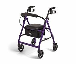 Medline Basic Rollator, Purple, 1 ea