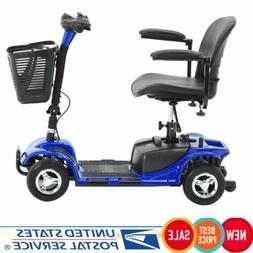 Blue 4 Wheel Scooter Power Mobility Electric Drive With Batt