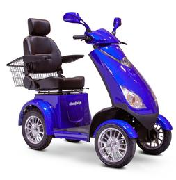 BLUE EWheels EW-72 Fast 4 Wheel Mobility Scooter, Up To 15 m
