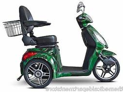 eWheels Camo Green FAST EW-36 Mobility Scooter, Electric 3 W