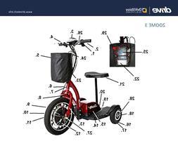 "Zoome 3 ""DIY REPAIR IPB SERVICE"" - Drive Medical Scooter Par"