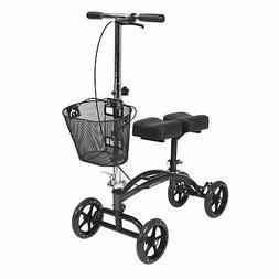 dual pad steerable knee walker