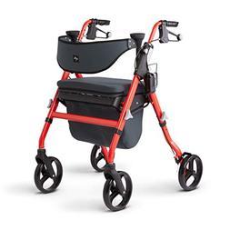 Medline Premium Empower Rollator Walker with Seat, Comfort H