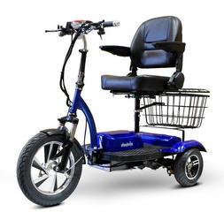 eWheels EW-32 Blue Electric Mobility 3 Wheel Scooter Loaded,