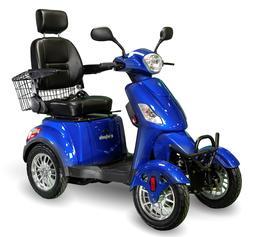 eWheels EW-46 4 Four Wheel Blue, Electric Mobility Scooter 1