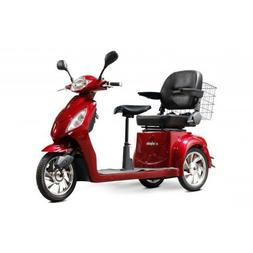 EWheels EW-66 2 Passenger Mobility Scooter - Red - EW-66 RED