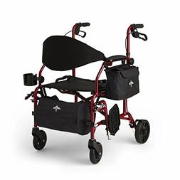 MEDLINE Excel Translator 2 IN 1 Transport Chair Combo Wheelc