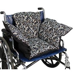 NEW Fancy Black Comfort Cushion Soft Wheelchair Pad Helps Pr