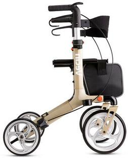 Vecin Folding Rollator Walker With Seat and Bag, Height Adju