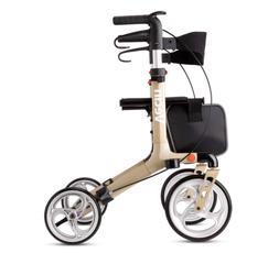 Vecin Folding Rollator Walker with Seat & Bag, Height Adjust
