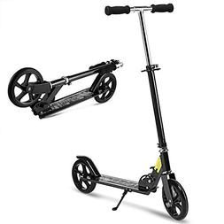 Hikole Folding Scooter for Big Kids and Adult with Easy Fold