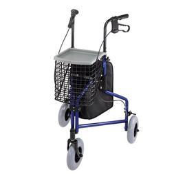 Duro-Med Folding Rollator Walker with Swiveling Front Wheels