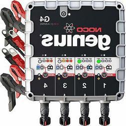 NOCO Genius G4 6V/12V 4.4 Amp 4-Bank Advanced Battery Trickl