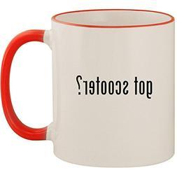 got scooter? - 11oz Ceramic Colored Handle & Rim Coffee Mug