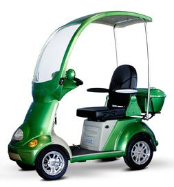 Green Mobility Scooter BUGGIE, Canopy & Windshield, 500 lb C