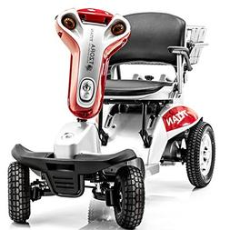 Hummer XL Folding 4-Wheel Electric Scooter Tzora Titan RED +