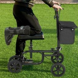 Knee Leg Injury Walker Scooter With Basket Folding Adjustabl