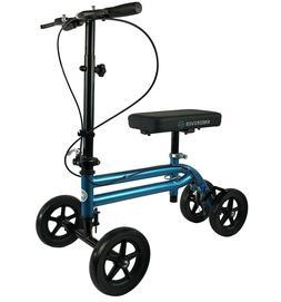 Knee Scooter Walker Steerable Crutch Alternative Folding Dua