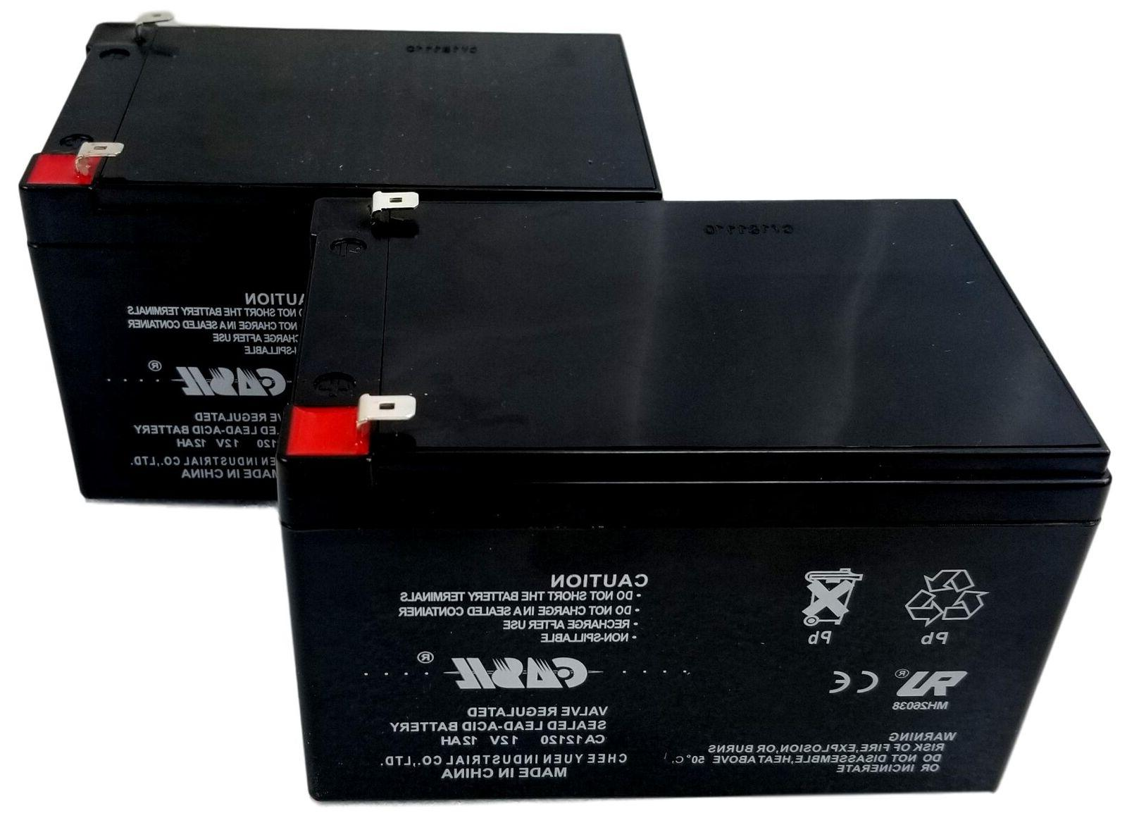 Casil 2 12V 12AH Replacement Battery for Pride Mobility Scooter