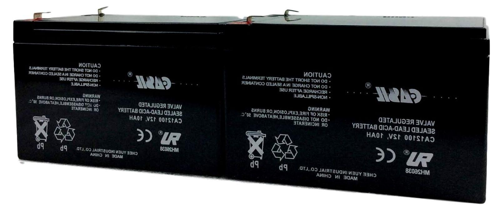 2 pack 12v 10ah replacement battery