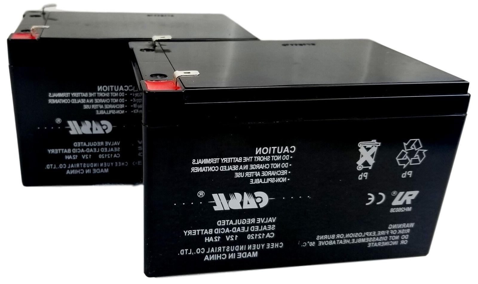 2 pack 12v 12ah replacement battery