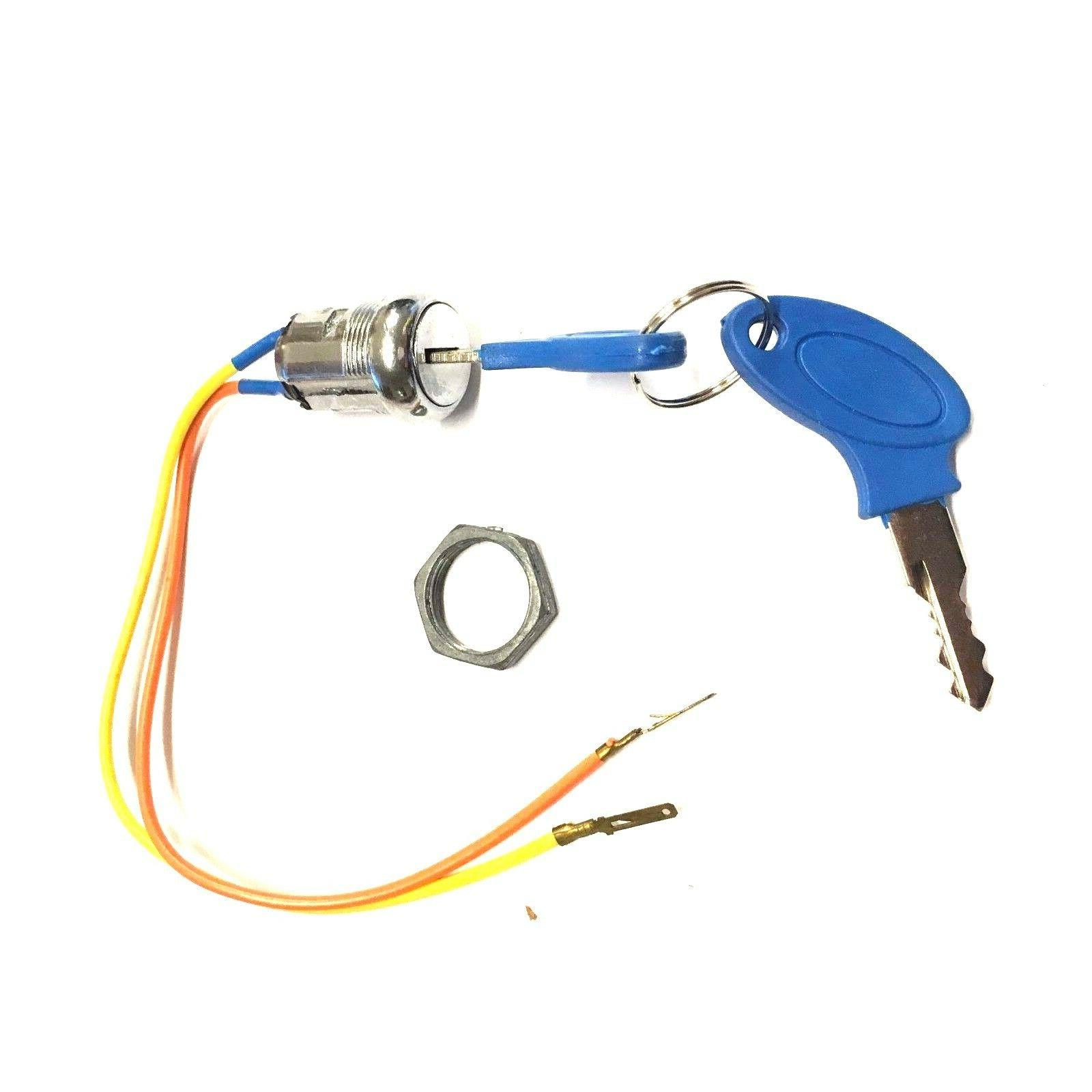 2-WIRE IGNITION KEY SWITCH BLUE 2 POSITION MOBILITY SCOOTER POWER CHAIR ELECTRIC