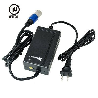 24v pride mobility xlr scooter battery charger