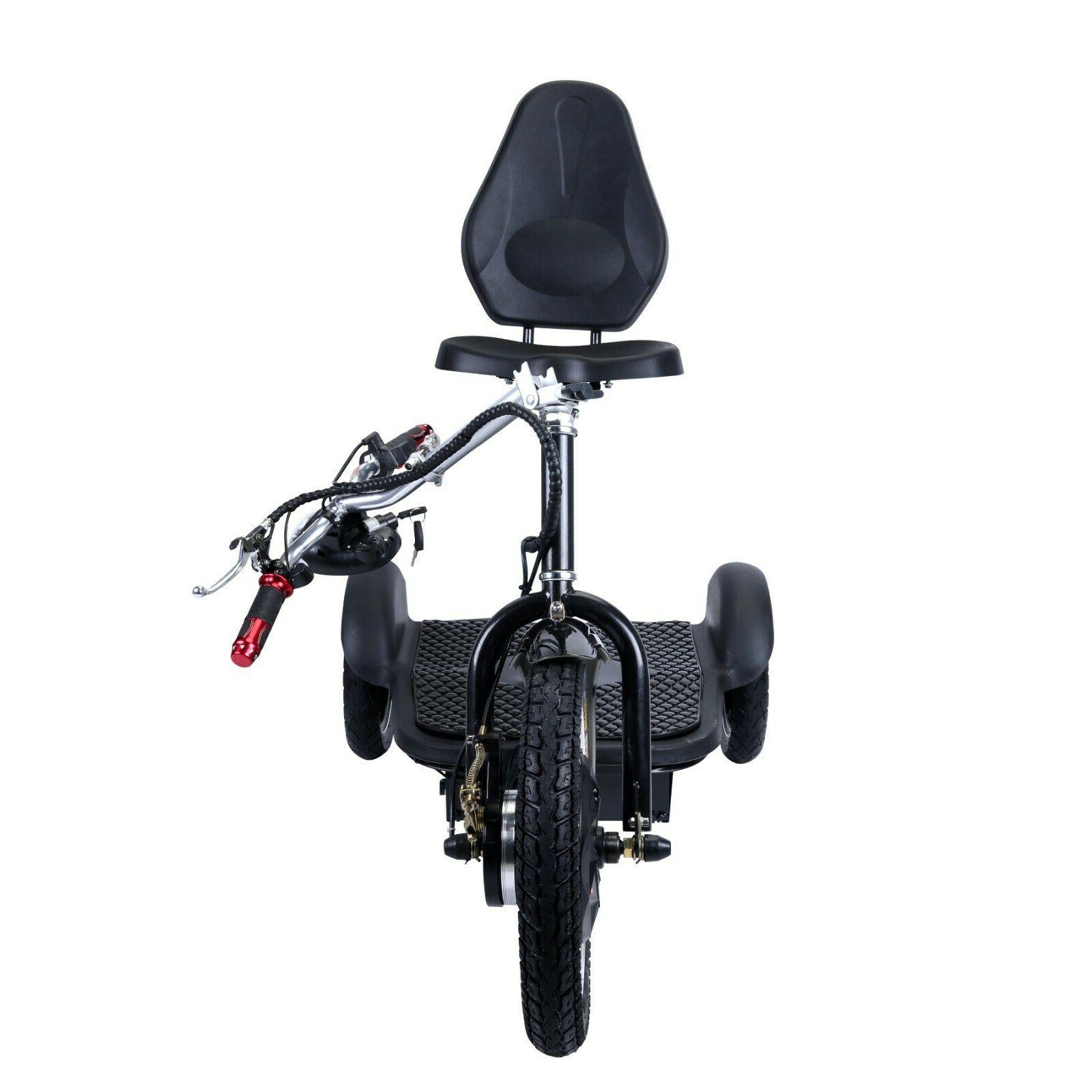 City 3-Speed Electric Mobility Scooter Front Wheel, 500W