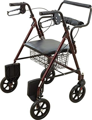 ProBasics Transport Rollator Walker With - And