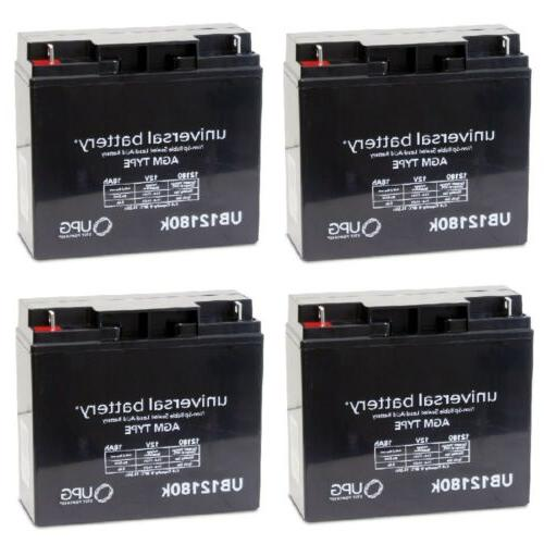 4 pack upg ub12180 12v 18ah replacement