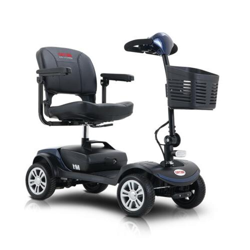 Outdoor Power Mobility Scooter 4 Wheels Travel compact Scoot