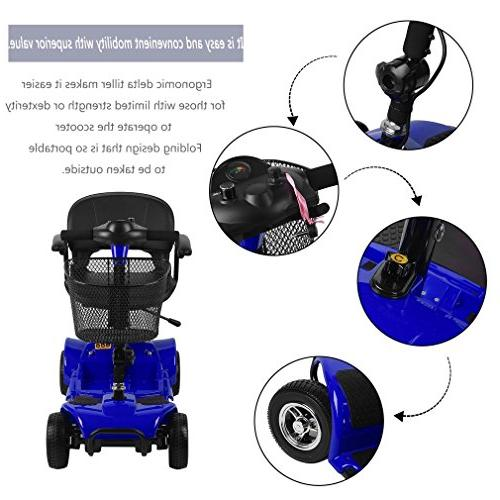Simoner Power Scooter, Folding Including Batteries-Great Gift for Disabled